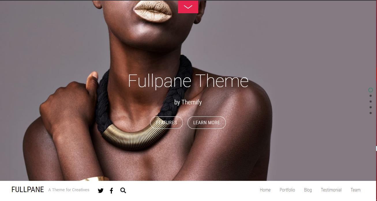 Fullpane HTML5 WordPress Theme