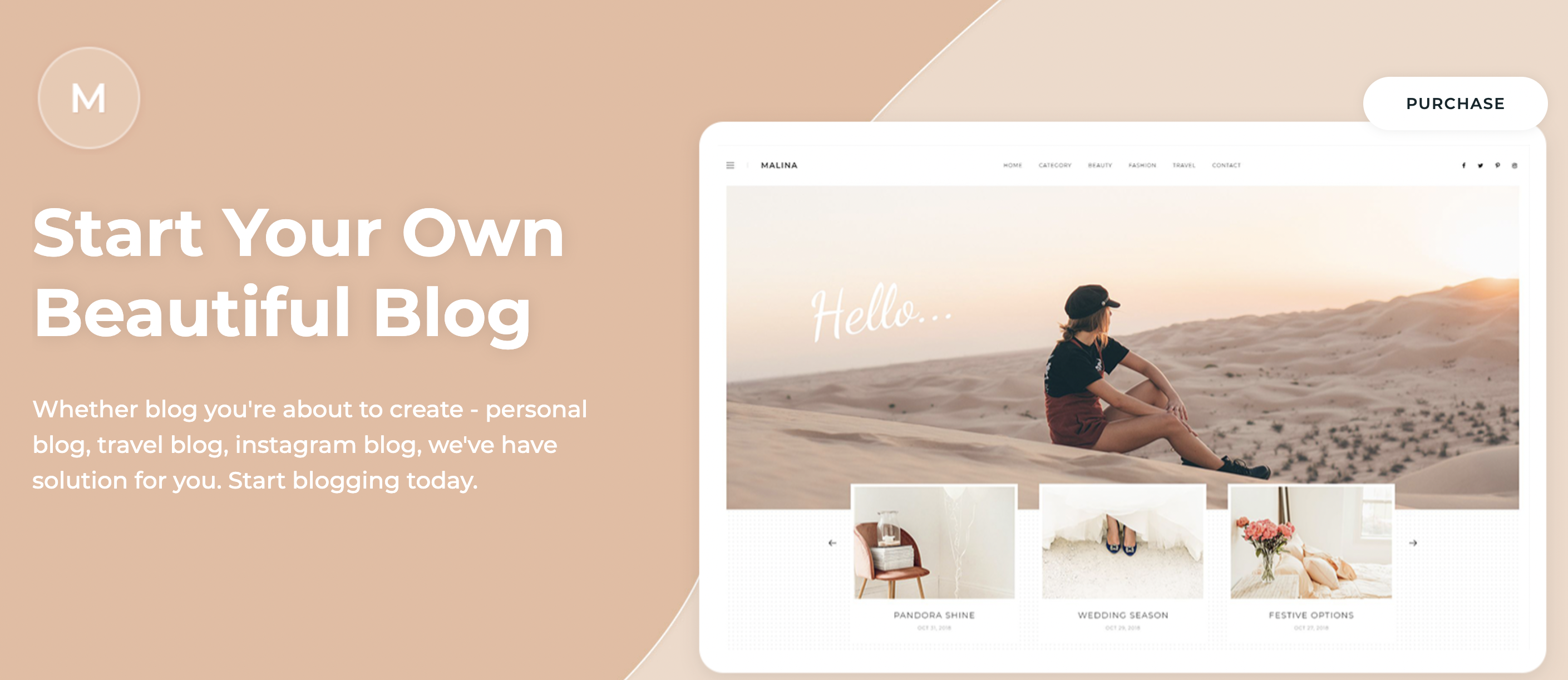 Malina HTML5 WordPress Theme