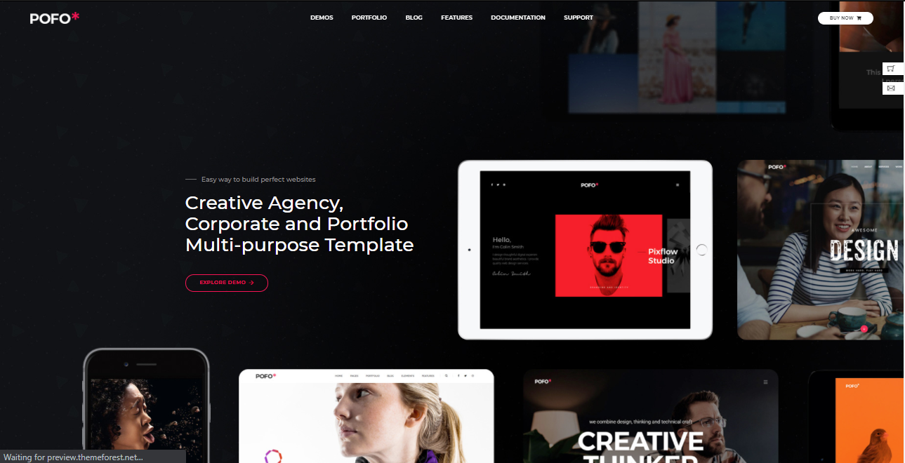 Pofo HTML5 WordPress Themes