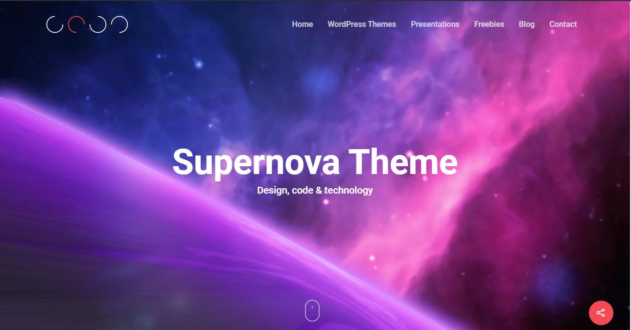 Supernova HTML5 WordPress Theme
