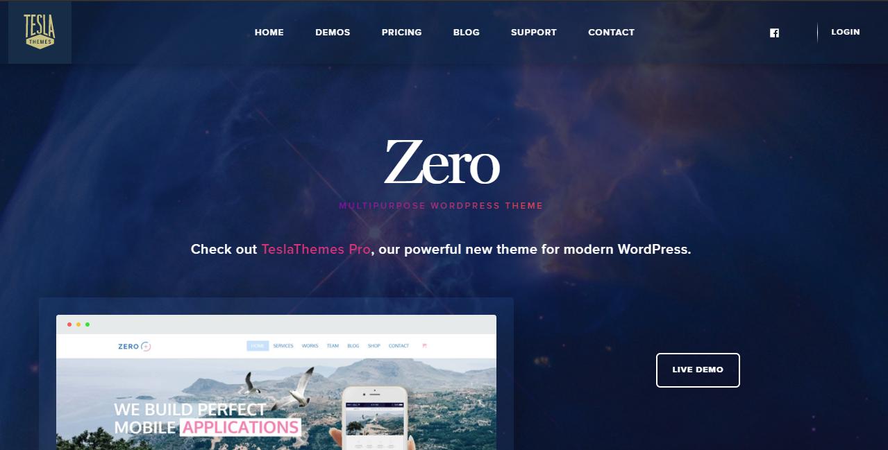 Zero HTML5 WordPress Theme