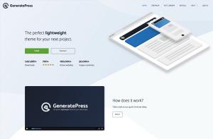 Generatepress free responsive wordpress theme