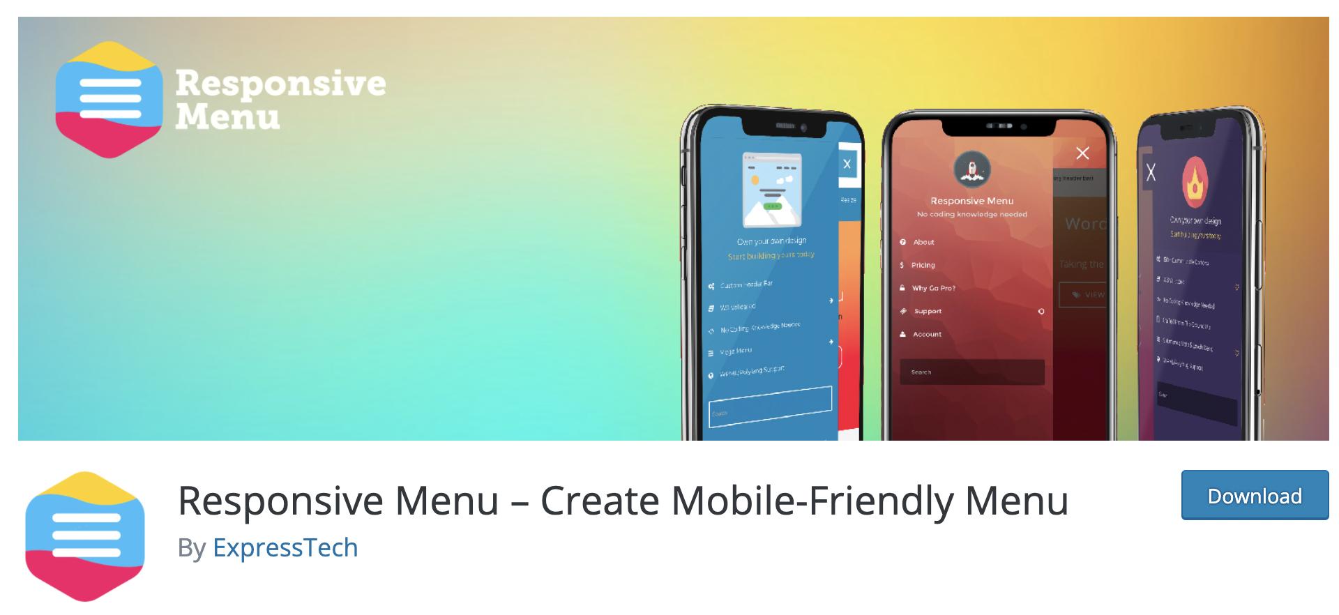 Responsive Menu – Create Mobile-Friendly Menu