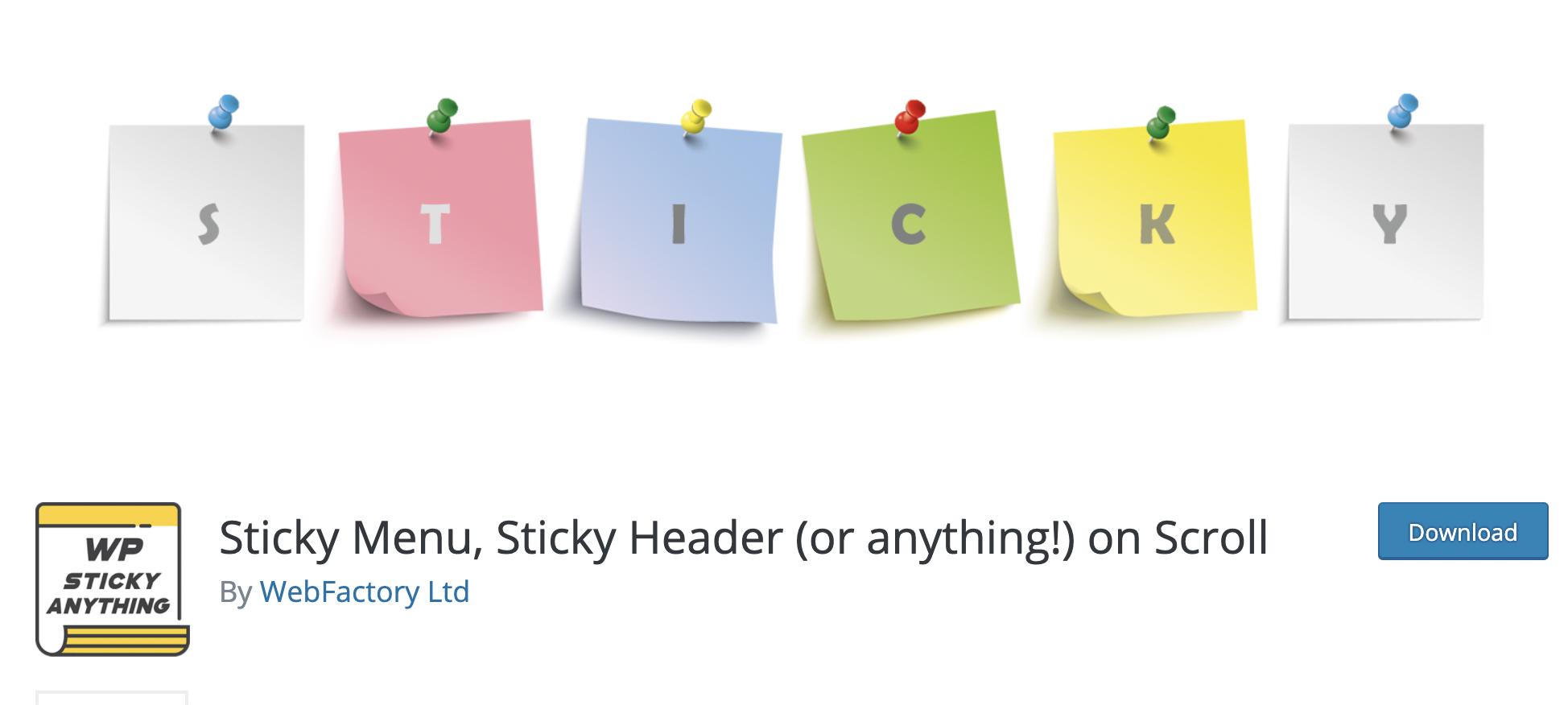 Sticky Menu, Sticky Header (or anything!) on Scroll
