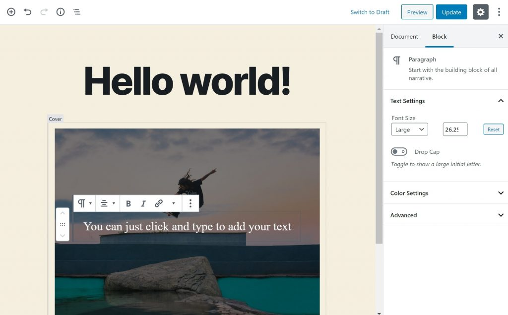 float featured image left wordpress