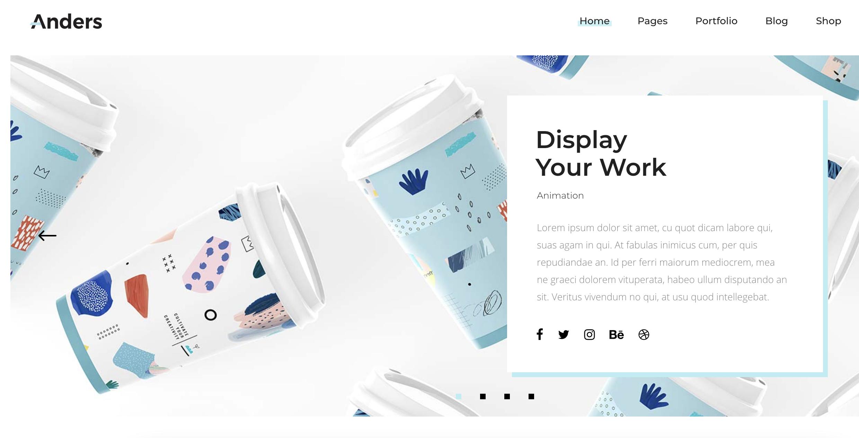 Anders blue WordPress theme
