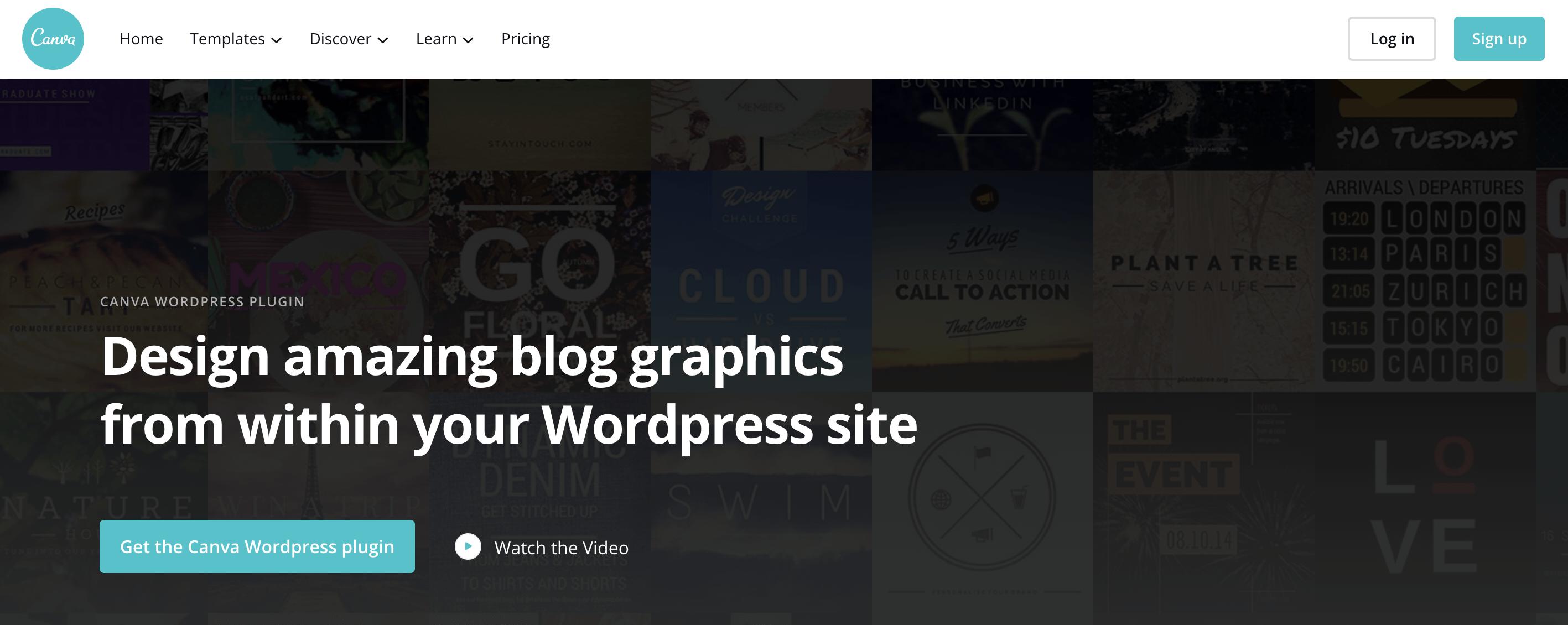 Canva WordPress plugin