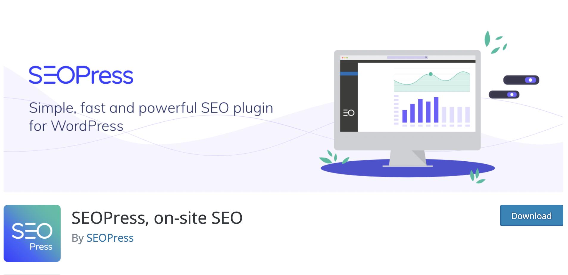 SEOPress on-site SEO - WordPress free plugin