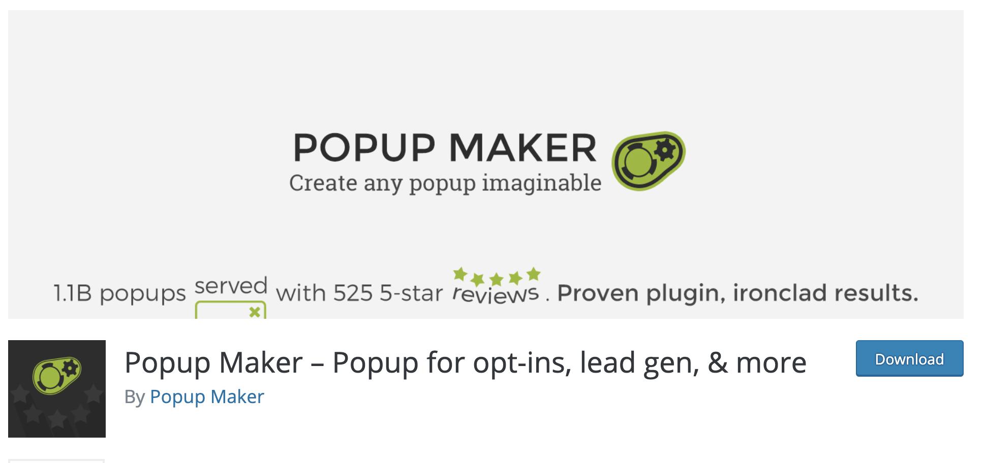 Popup Maker – Popup for opt-ins, lead gen, & more