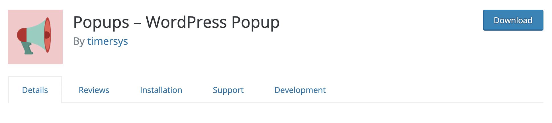 Popups – WordPress Popup