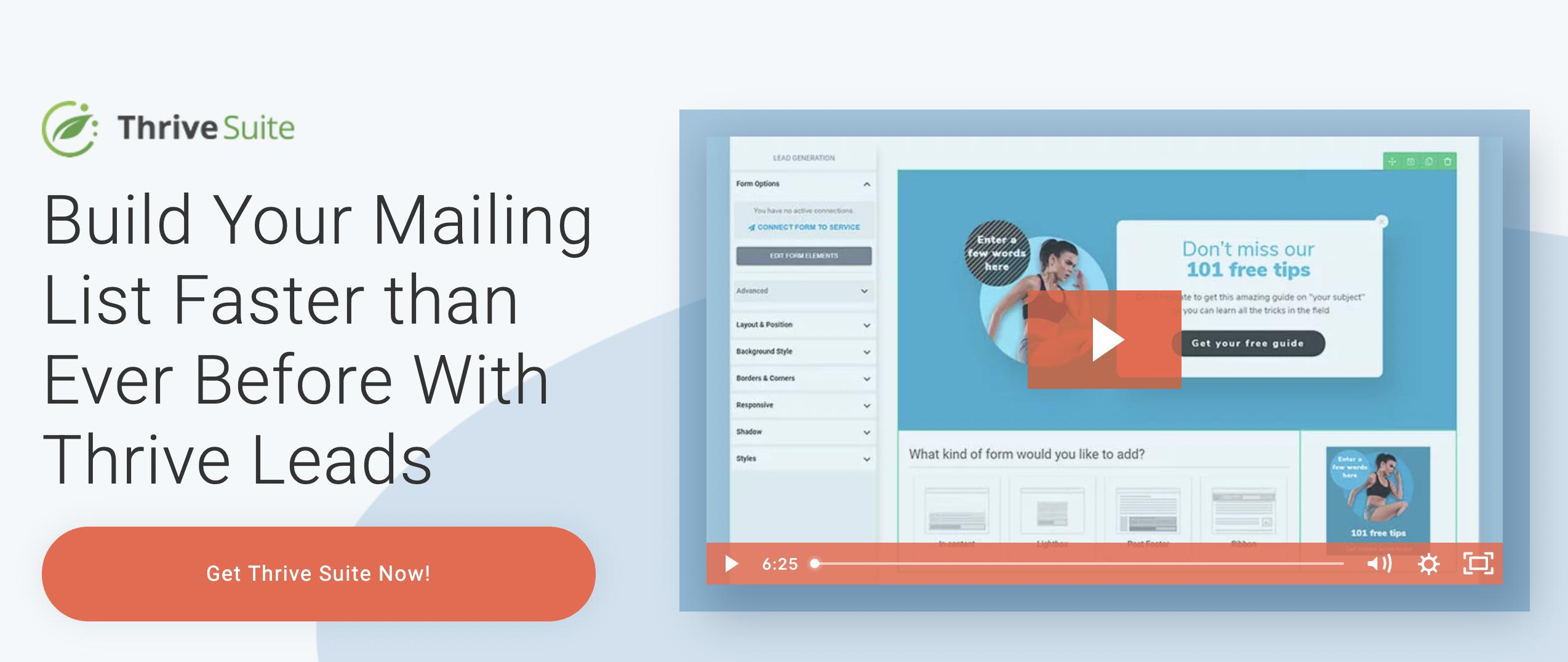Thrive Leads - WordPress Popup Plugin