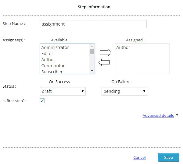 Edit Workflow Step