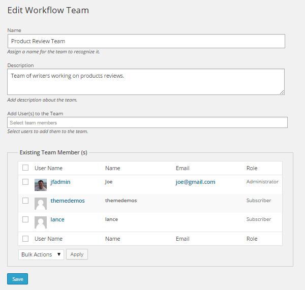 Oasis Workflow Add Teams