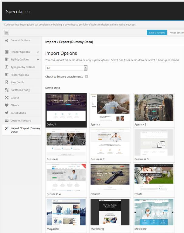 Specular: A Multi-Purpose Theme with 24 Demo Sites & Custom