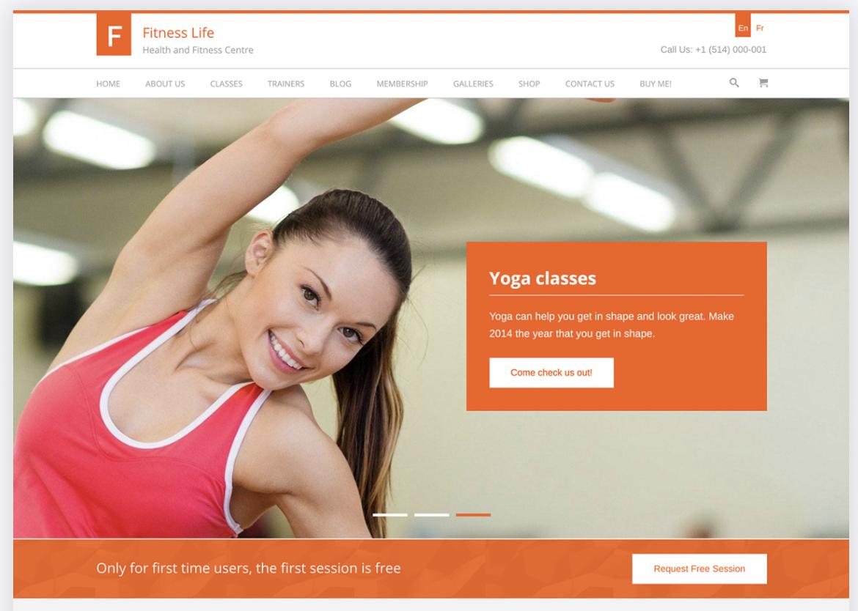 FitnessLife WordPress Theme