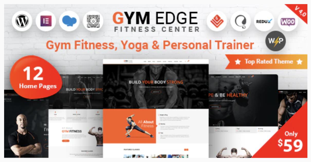 Gym Edge - Fitness WordPress Theme