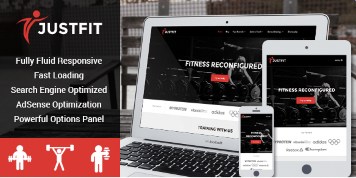 JustFit - WordPress fitness theme