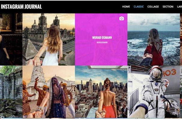 Instagram Journal WordPress Theme
