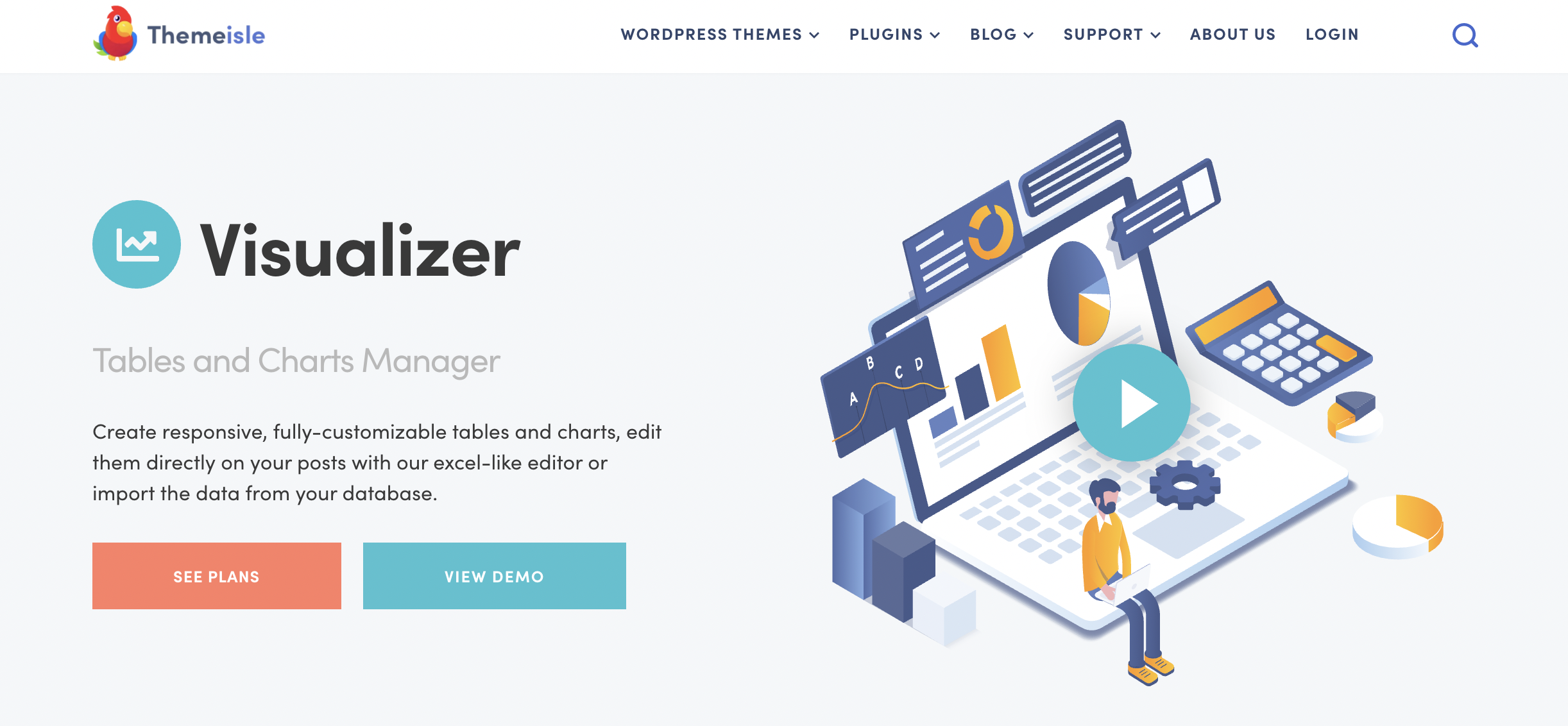 Visualiz WordPess chart plugin