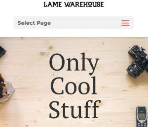 Lame Warehouse - Divi Website Example