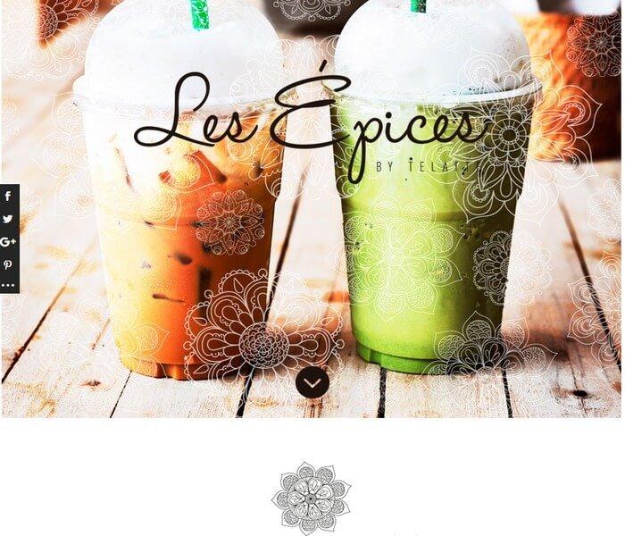 Les Epices - Divi Website Example