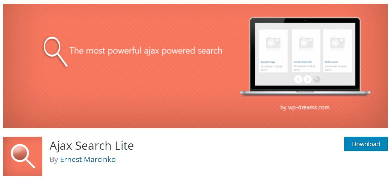 Ajax Search Lite - WordPress search plugin