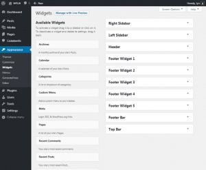 GeneratePress Widget Areas