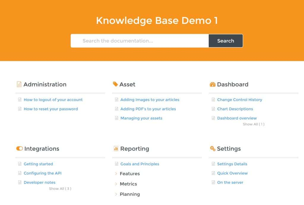 Echo Knowledge Base plugin