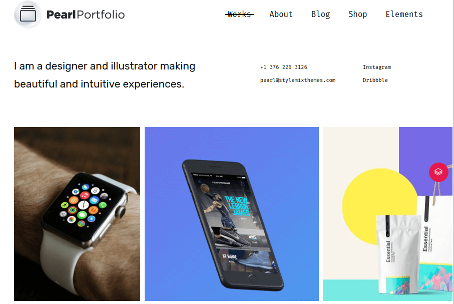 Pearl WordPress Theme - Pearl Portfolio