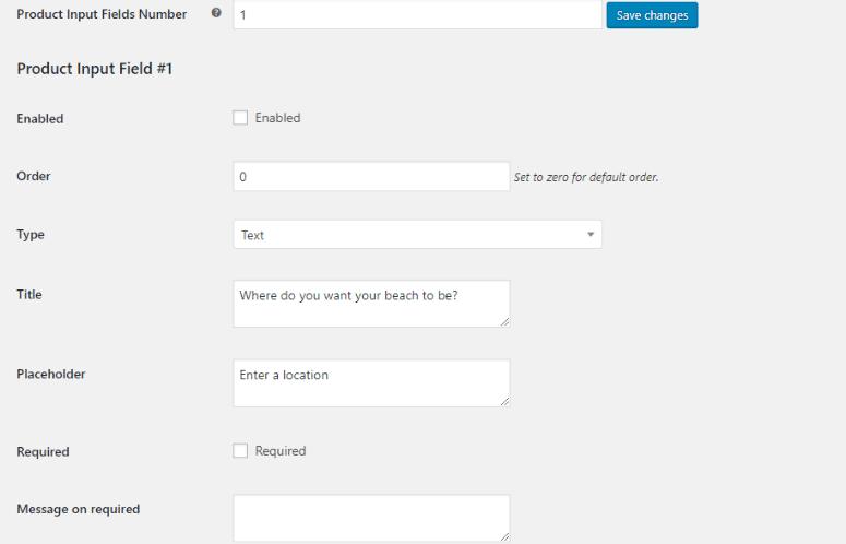 individual module settings