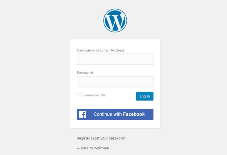 example of social login