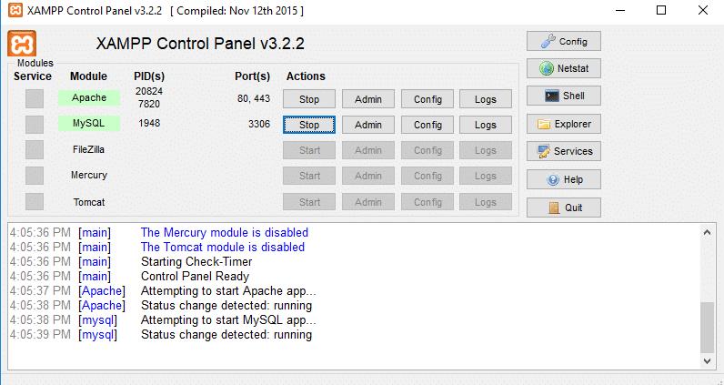 xampp interface