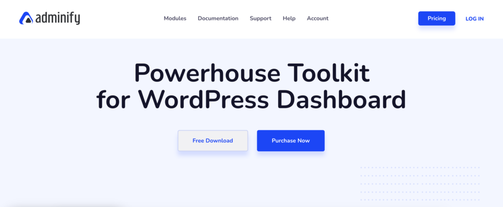 Adminify WordPress admin theme