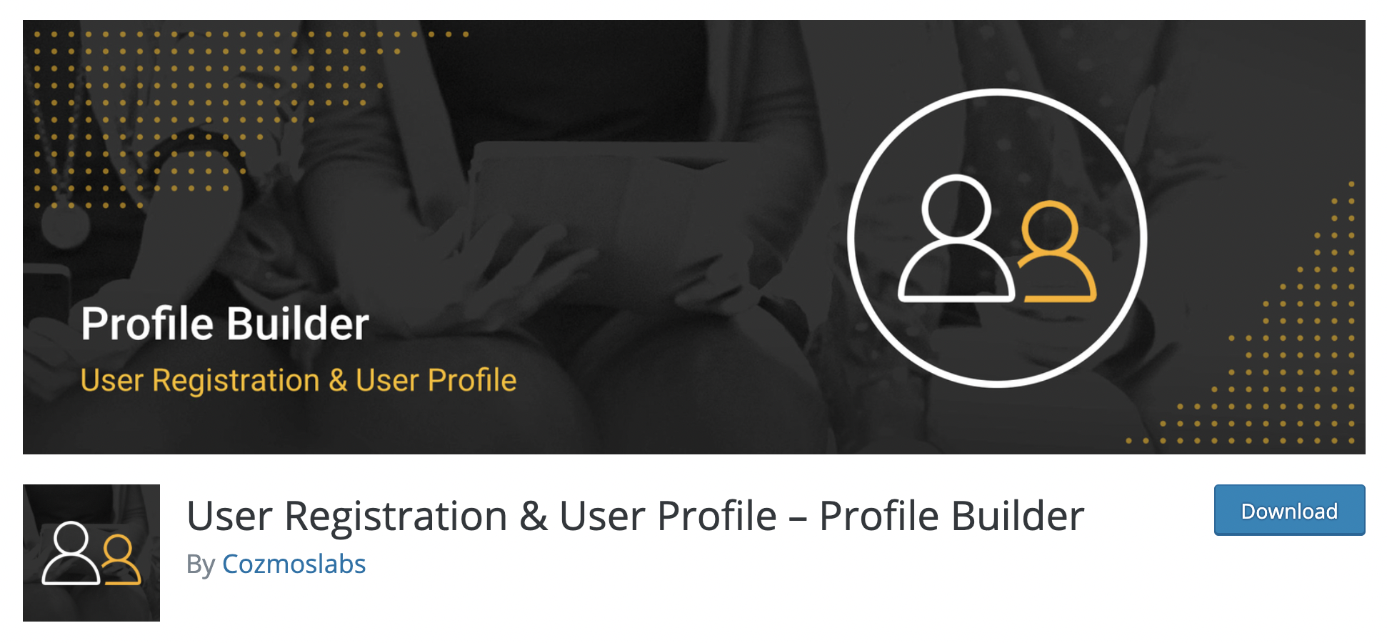 Profile Builder WordPress registration plugin