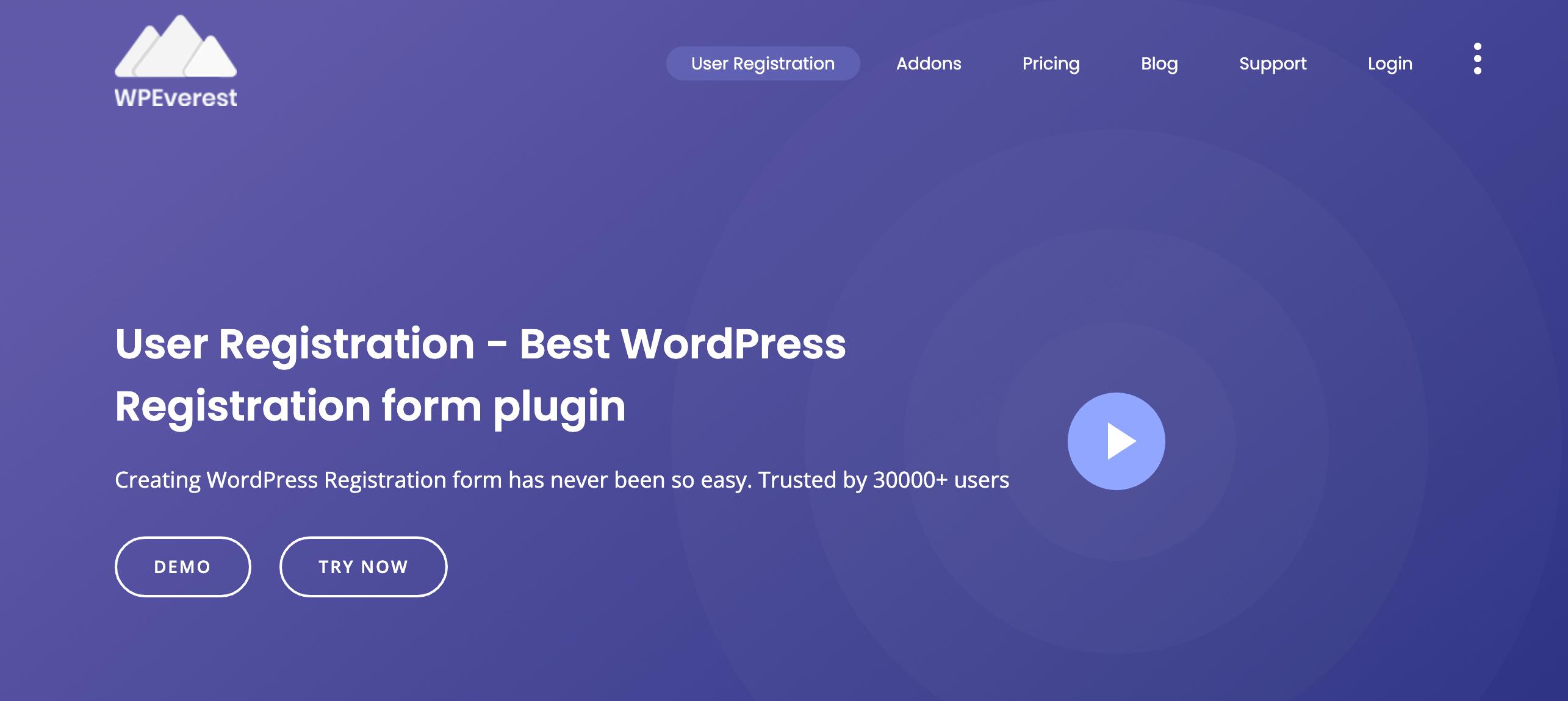User Registration - WordPress Registration form plugin