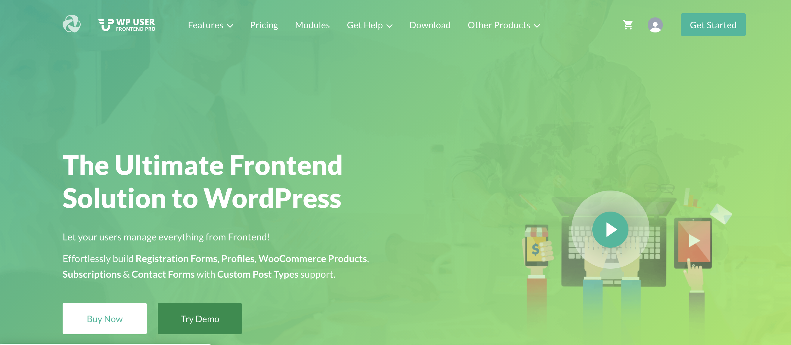 WP User Frontend -  WordPress registration plugin