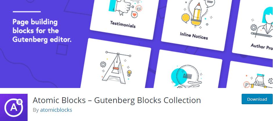 atomic blocks gutenberg blocks plugin
