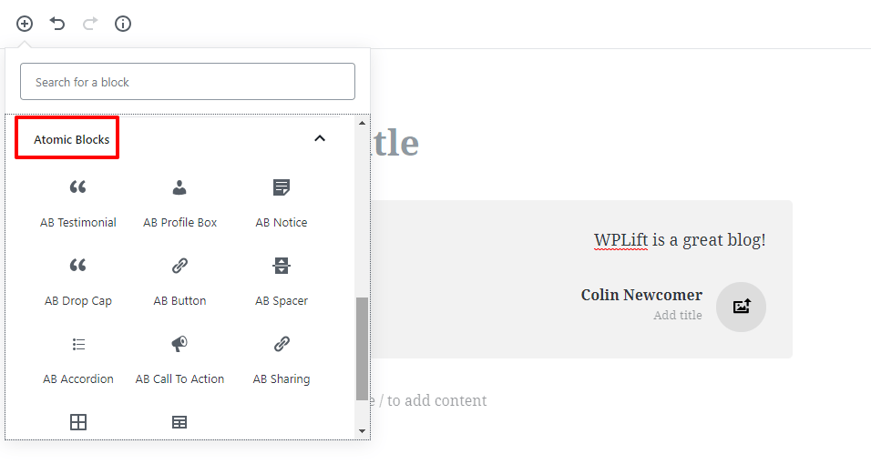new blocks for the WordPress gutenberg editor