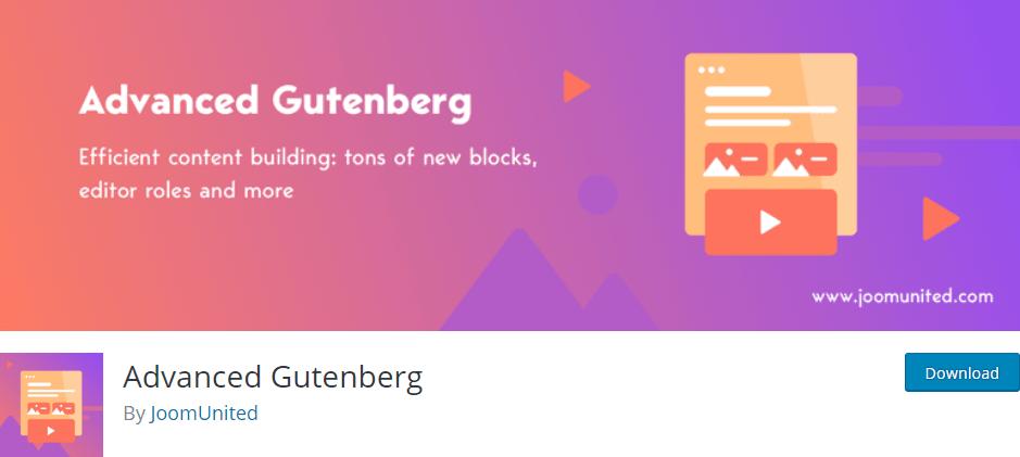 advanced gutenberg plugin