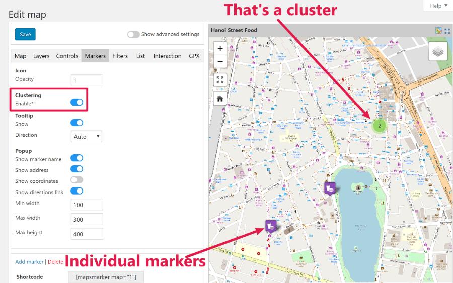 marker cluseter