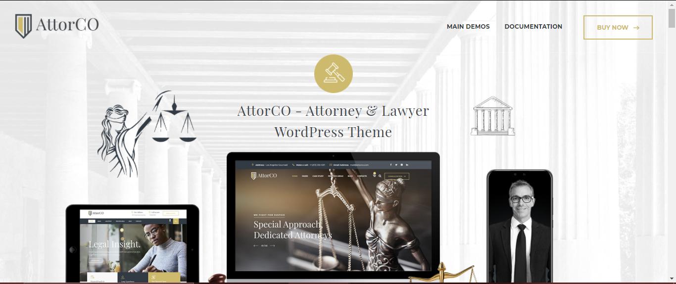 AttorCO Lawyer Theme