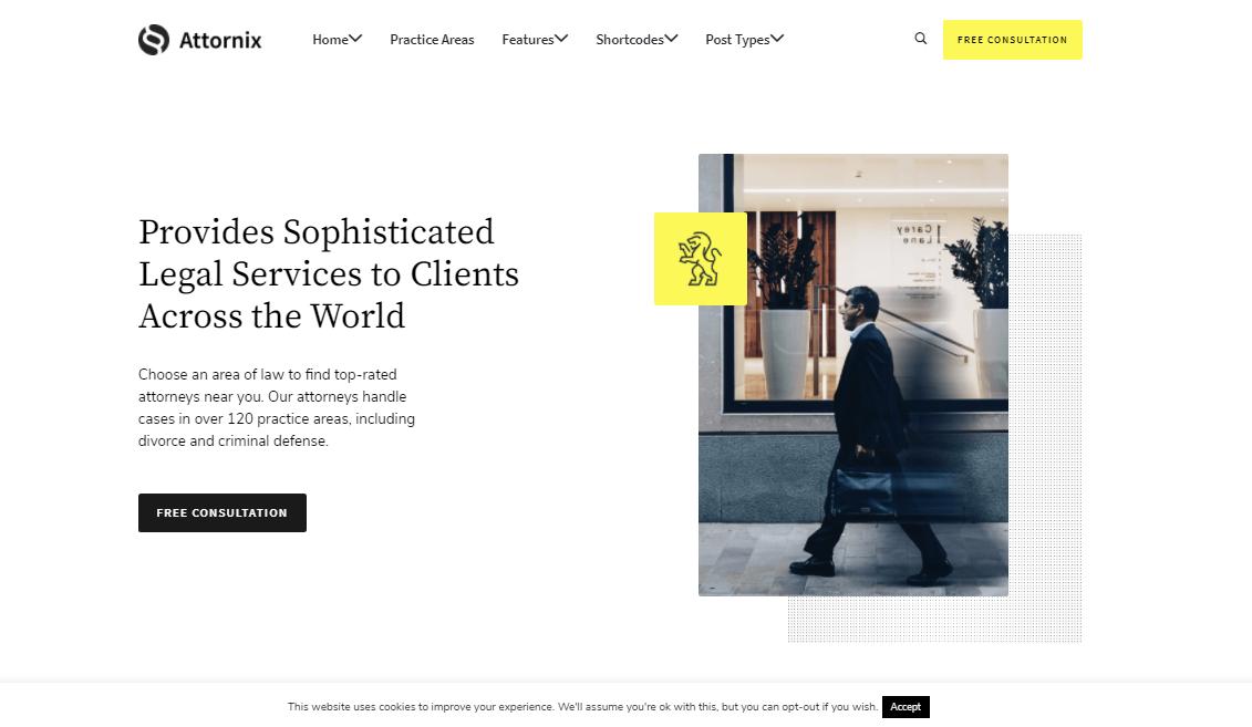 Attornix  lawyer WordPress themes