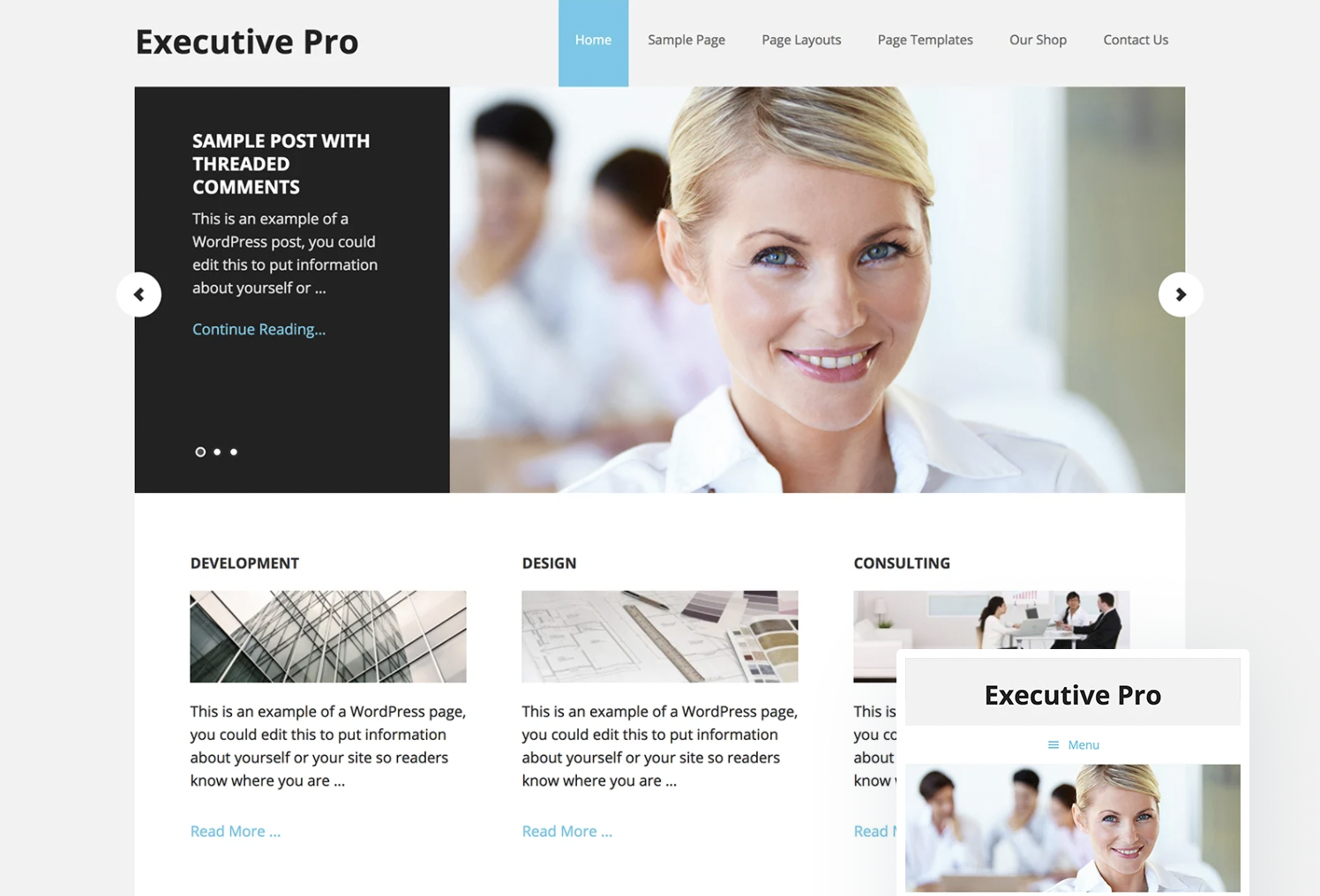 Executive Pro- lawyer WordPress themes