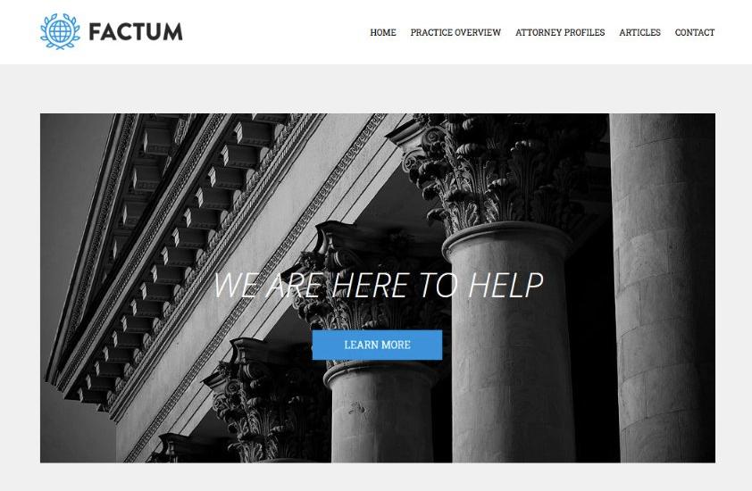Factum lawyer WordPress themes