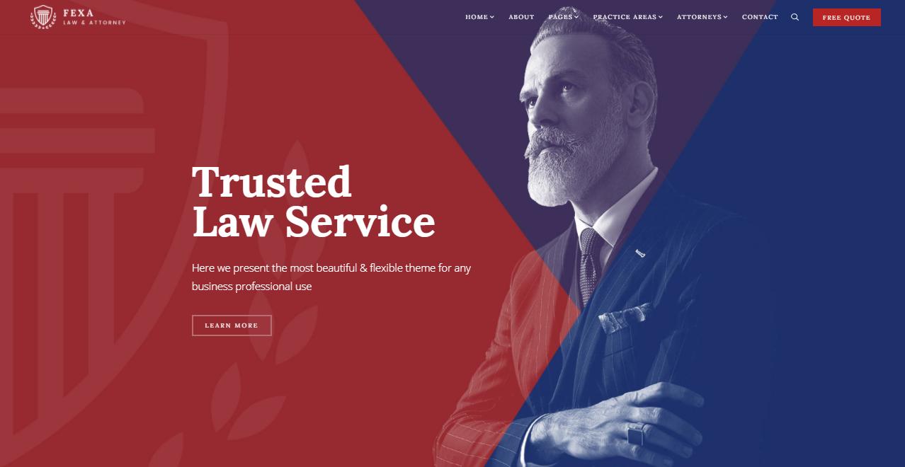 Fexa lawyer WordPress theme