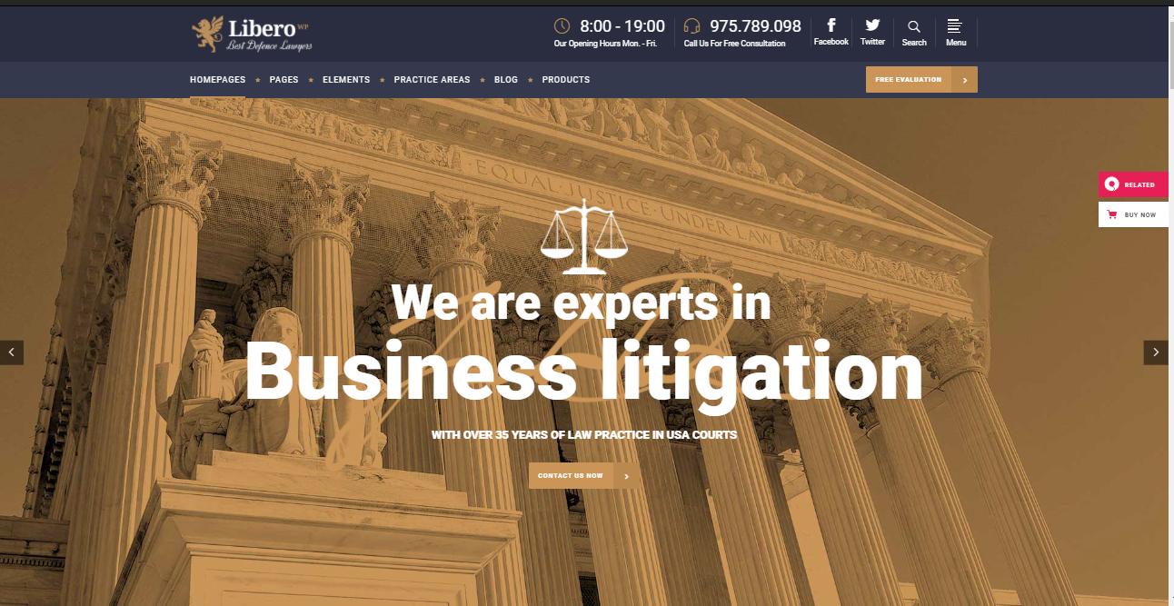 Libero WordPress Lawyer Theme