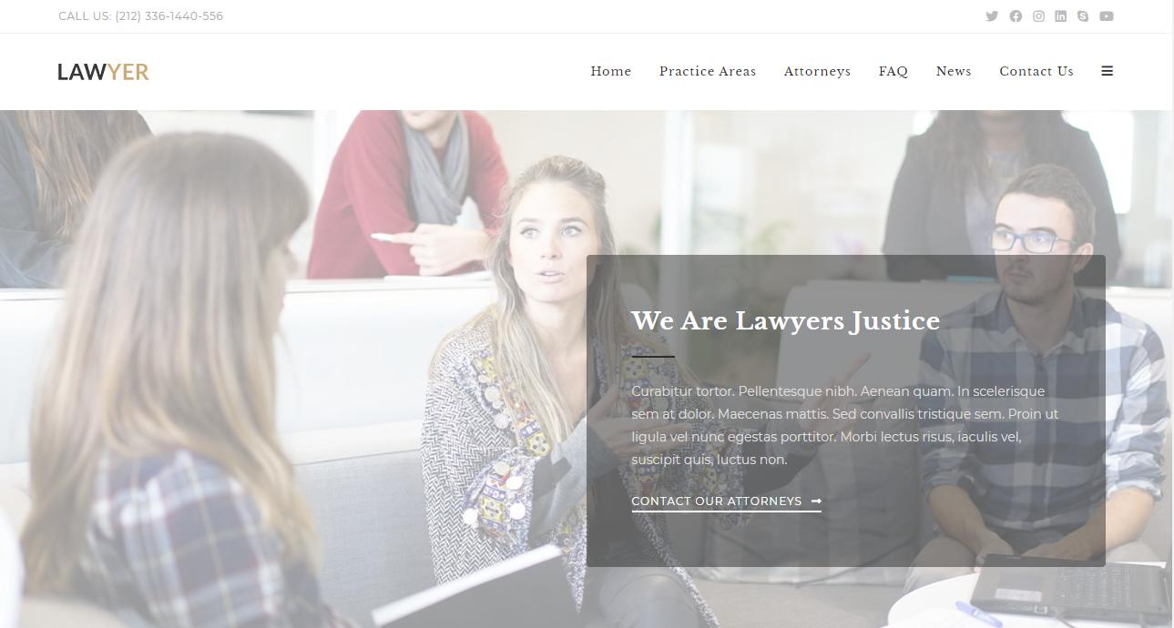 OceanWP  lawyer WordPress themes