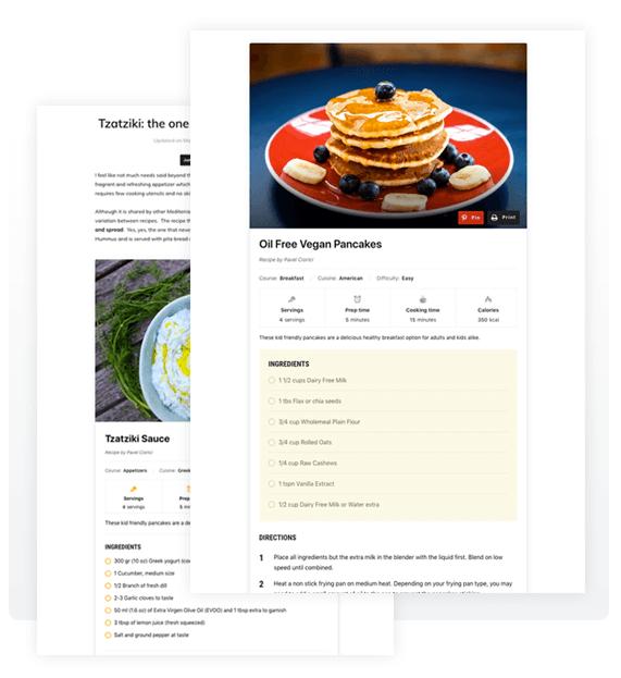 Recipe Card Blocks recipe plugin