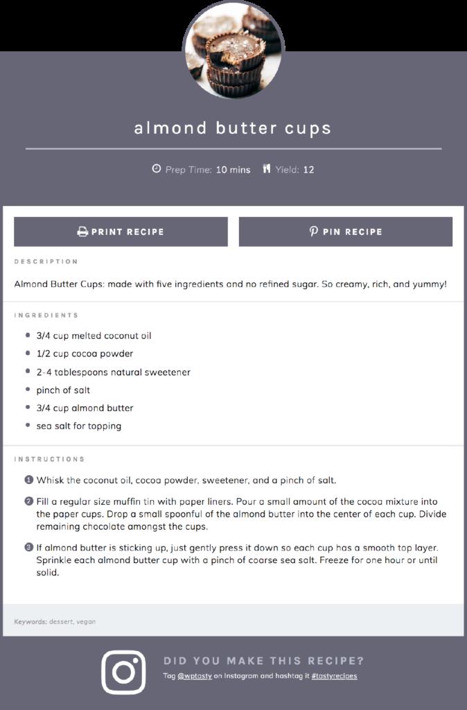 Tasty Theme WordPress recipe plugin