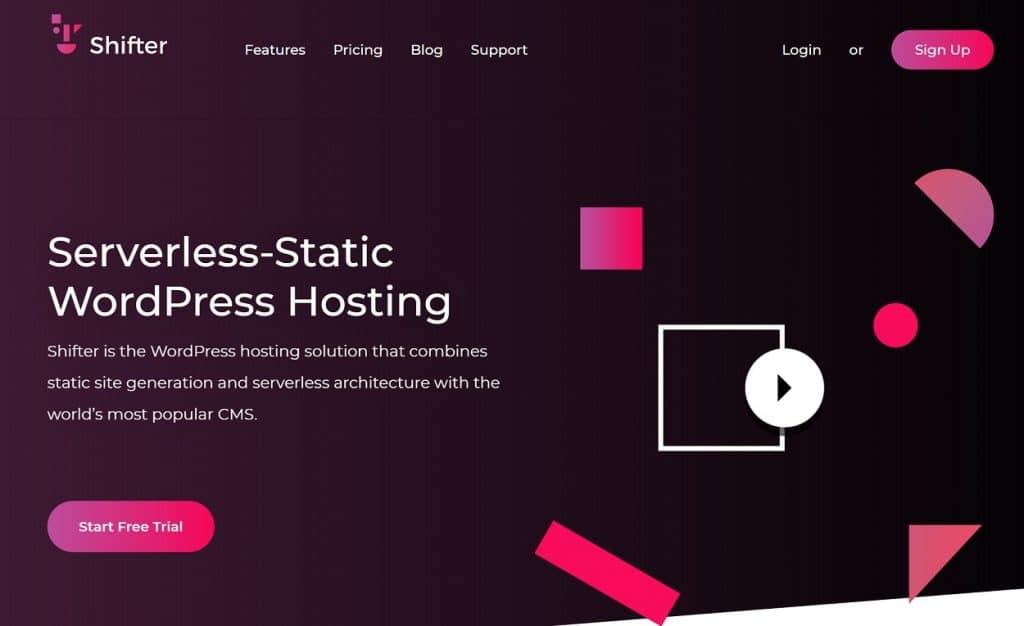 Shifter static WordPress hosting